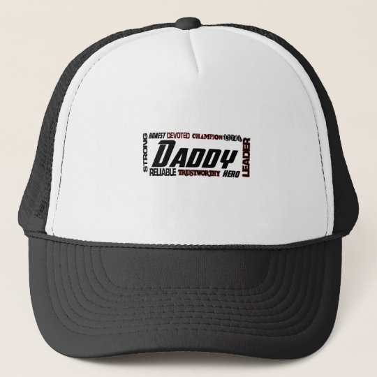 Daddy Word Picture Fathers Day Dad Trucker Hat