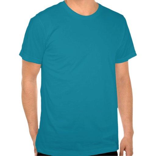 DaddyNoob - azul del emblema del bigote Camiseta