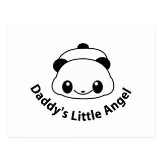 Daddys angel Panda Postcard