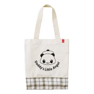 Daddys angel Panda Zazzle HEART Tote Bag
