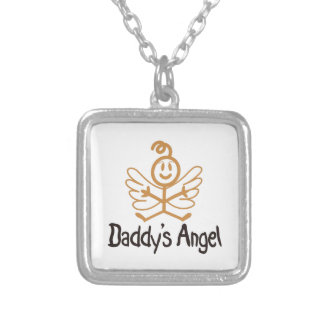 Daddys Angel Square Pendant Necklace