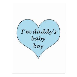 Daddy's Baby Boy Postcard