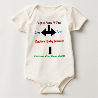 Daddy's Baby Manual Infant Sleeper Baby Bodysuit