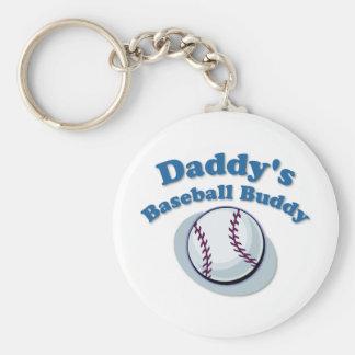 Daddy's Baseball Buddy Keychain