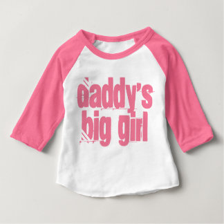 Daddy's Big Girl Typography Baby T-Shirt