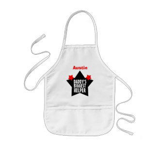 Daddy's BIGGEST Helper with Name with STARS V04 Kids' Apron