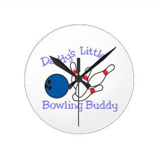 Daddys Bowling Buddy Round Clock
