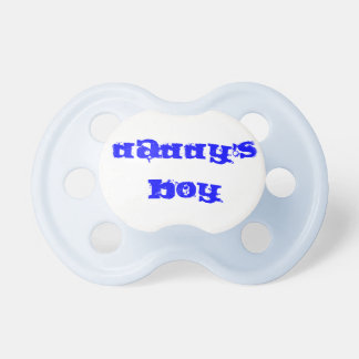Daddy's Boy baby pacifier blue customizable