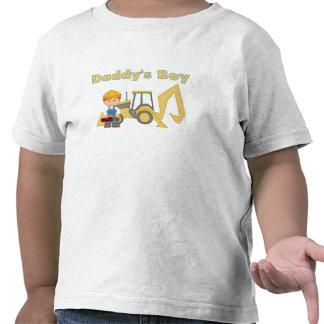 Daddy's Boy Backhoe Tee Shirts
