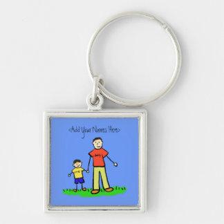 Daddy's Boy Brunette Keychain (Custom Names)