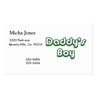 Daddy's Boy Double-Sided Standard Business Cards (Pack Of 100)