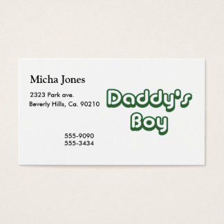 Daddy's Boy Business Card