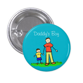 Daddy's Boy Family Art Custom Pendant Buttons