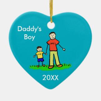 Daddy's Boy Family Character Custom Photo Ornament