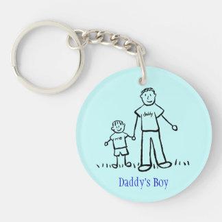 Daddy's Boy Family Characters Art Custom Keychain