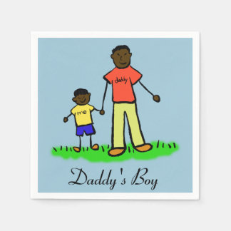 Daddy's Boy Personalized Family Characters Napkin Standard Cocktail Napkin