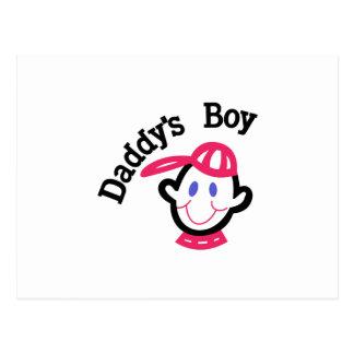 Daddys Boy Postcard
