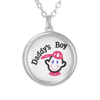 Daddys Boy Silver Plated Necklace