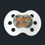 """Daddy&#39;s Buck Camo Baby Pacifier<br><div class=""""desc"""">Daddy&#39;s Buck Camo Baby Pacifier</div>"""