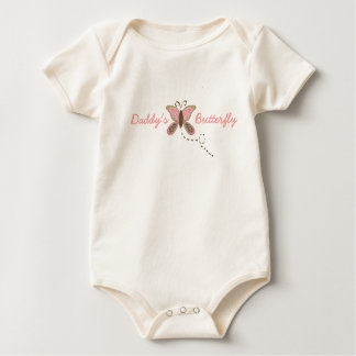 Daddy's Butterfly Infant Girl Organic Bodysuits