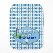 Daddy's Caddy Burp Cloth