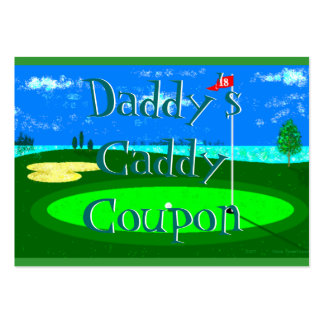 Daddy's Caddy Coupon Large Business Card