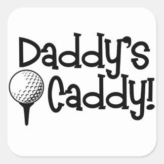 Daddy's Caddy Square Sticker
