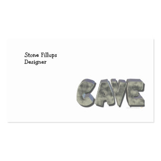 Daddy's Cave Custom Name Stone Look Business Card
