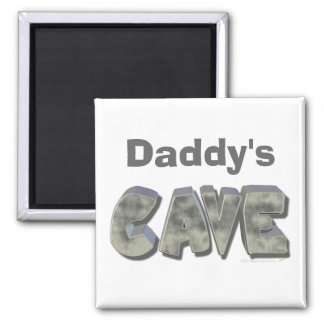 Daddy's Cave Custom Name Stone Look Fridge Magnets