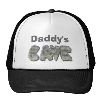 Daddy's Cave Custom Name Stone Look Trucker Hat
