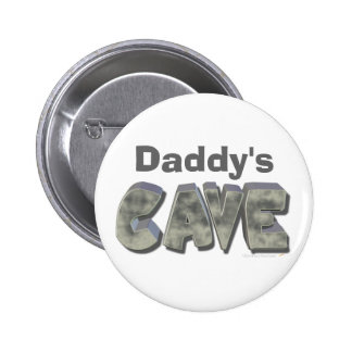 Daddy's Cave Custom Name Stone Look Pins