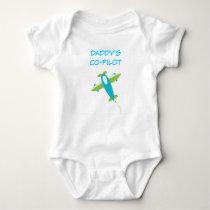 Daddy's Co Pilot Baby Jersey Bodysuit
