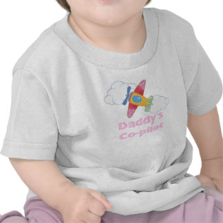 Daddy's Co-pilot (girl) Tshirts