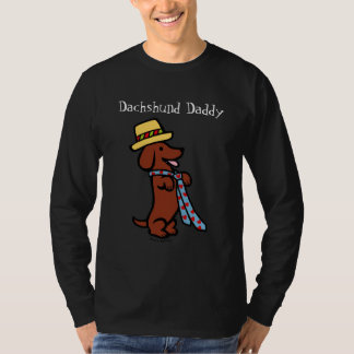Daddy's Dachshund Cartoon T-Shirt