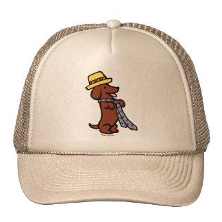 Daddy's Dachshund Cartoon Trucker Hat