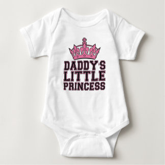 Daddy's daddy little princess in pink baby bodysuit