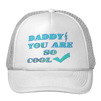 daddy's day-daddy cool trucker hat