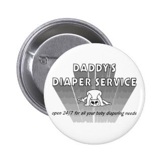 Daddy's Diaper Service Pinback Button
