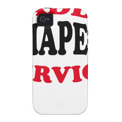 Daddy's Diaper Service Tshirt J.png Vibe iPhone 4 Cases