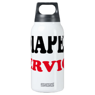 Daddy's Diaper Service Tshirt J.png Insulated Water Bottle