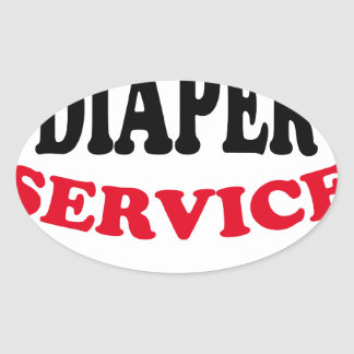 Daddy's Diaper Service Tshirt J.png Oval Sticker