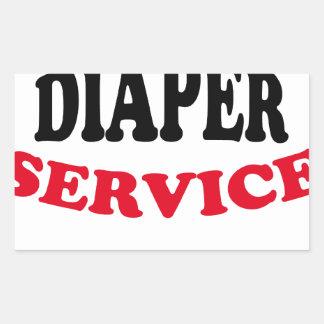 Daddy's Diaper Service Tshirt J.png Rectangular Sticker