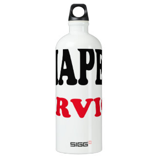 Daddy's Diaper Service Tshirt J.png Water Bottle