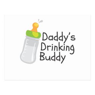 Daddy's Drinking Buddy Post Card