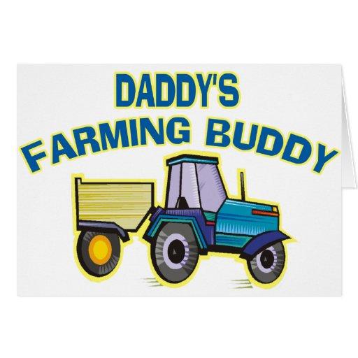 Daddy's Farming Buddy Greeting Card