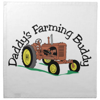 Daddys Farming Buddy Napkin