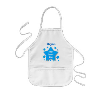 Daddy's Favorite Helper Custom Name BLUE STARS V10 Kids' Apron