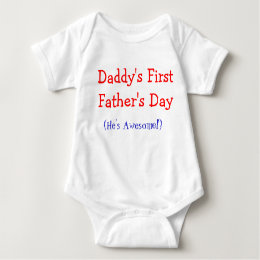 Daddy's First Father's Day Baby Onsie Baby Bodysuit