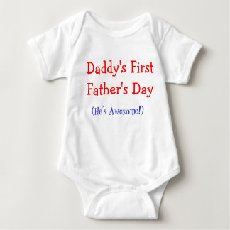 Daddy's First Father's Day Baby Onsie T-shirts