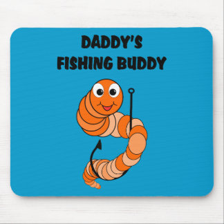Daddy's Fishing Buddy-Blue Background Mouse Pad